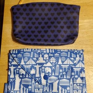 Two Ipsy cosmetic makeup bags